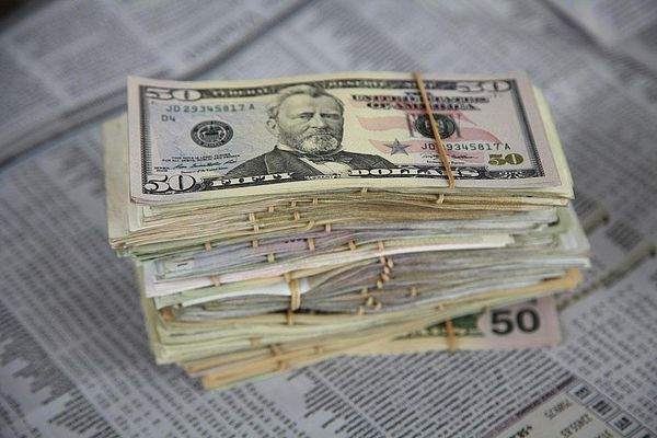 US dollars_investing section of newspaper