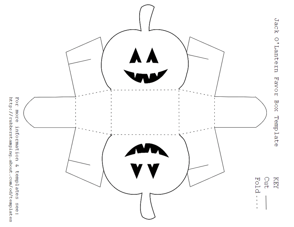 Free Printable Jack O'Lantern Favor Box Template
