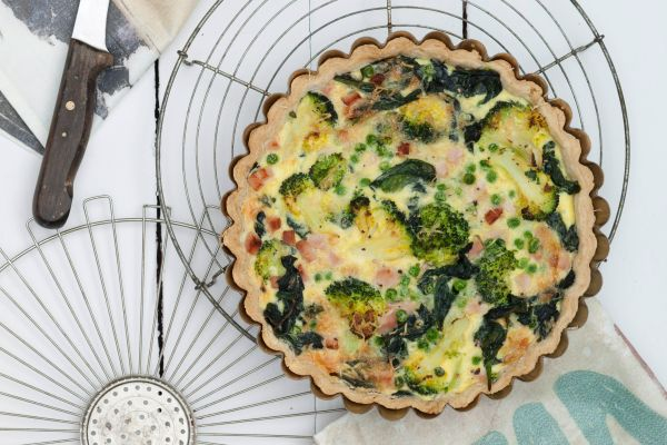 Turkey and Broccoli Quiche Recipe