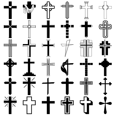 36 Christian Cross Shapes for Photoshop and Elements