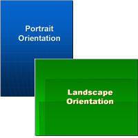 landscape and portrait slides