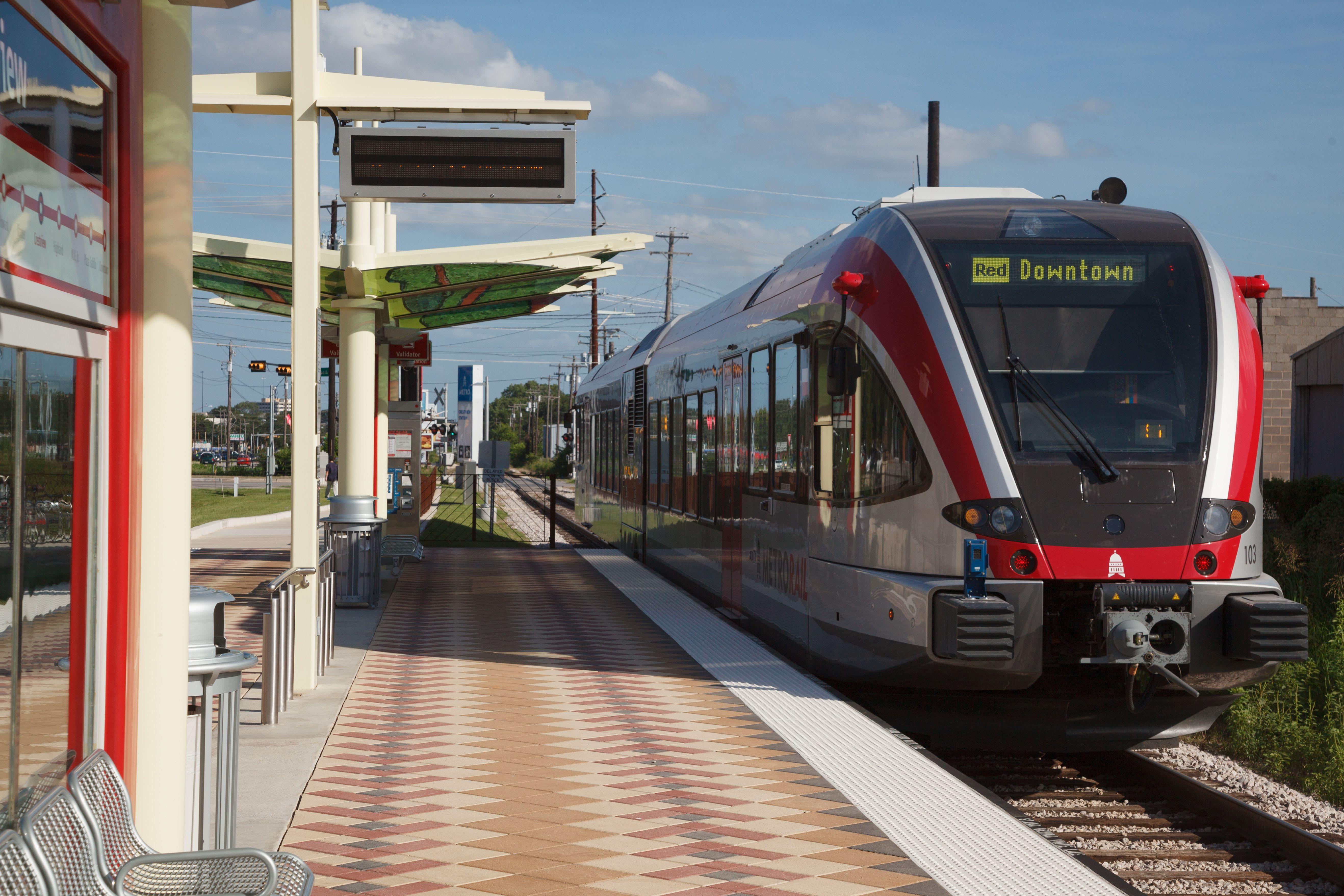 Metrorail Light Rail In Austin Tx