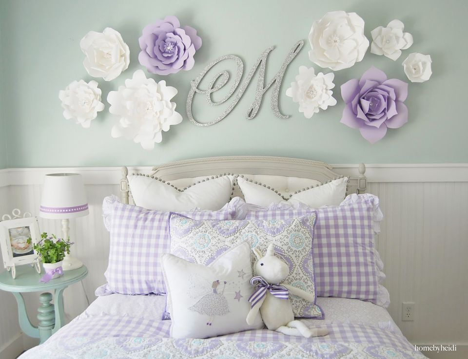 lavender living room ideas retro style furniture 24 wall decor for girls' rooms