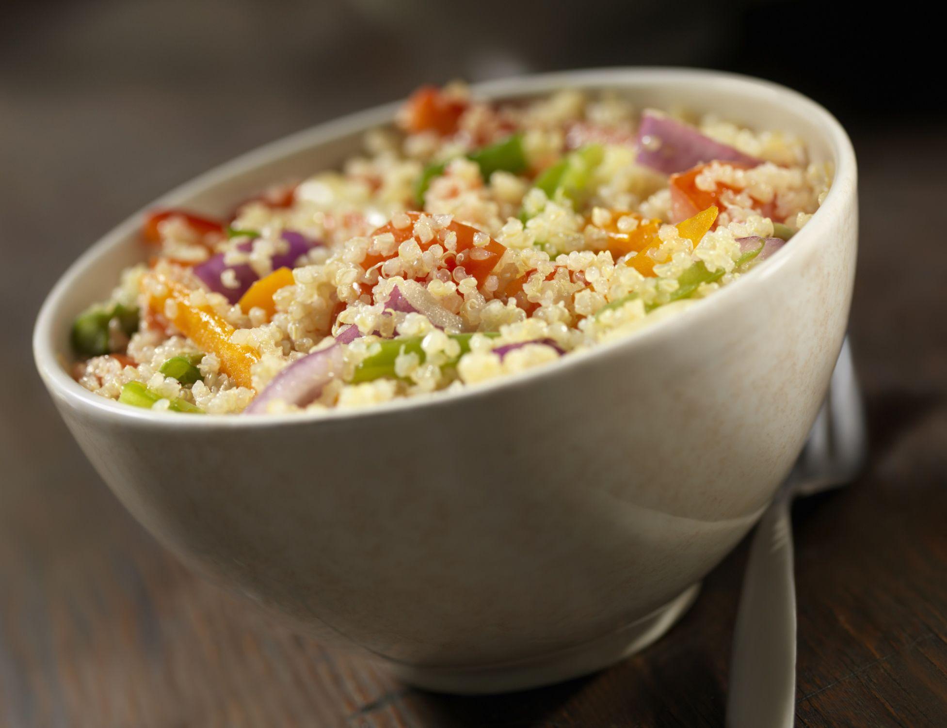 Basic And Easy Vegan Quinoa Salad Recipe (Gluten-Free