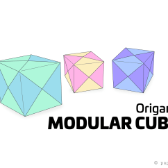 Cool Modular Origami Diagram Clipping Duck Wings How To Make A Cube Box