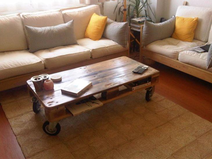 Afbeelding van een pallet salontafel