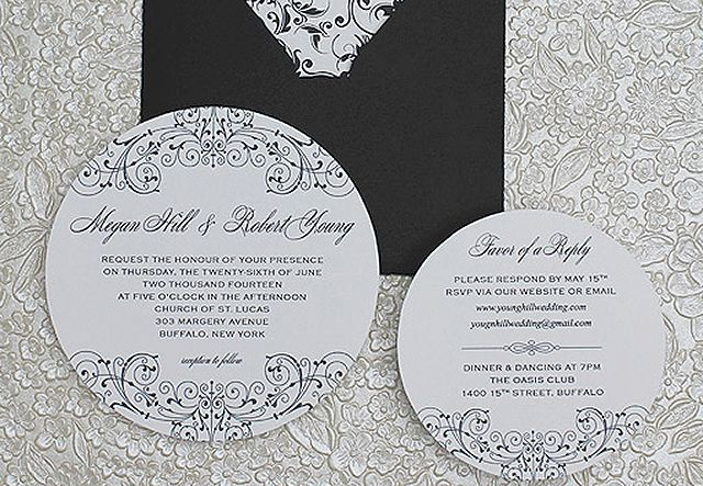 Round Printable Wedding Invitation