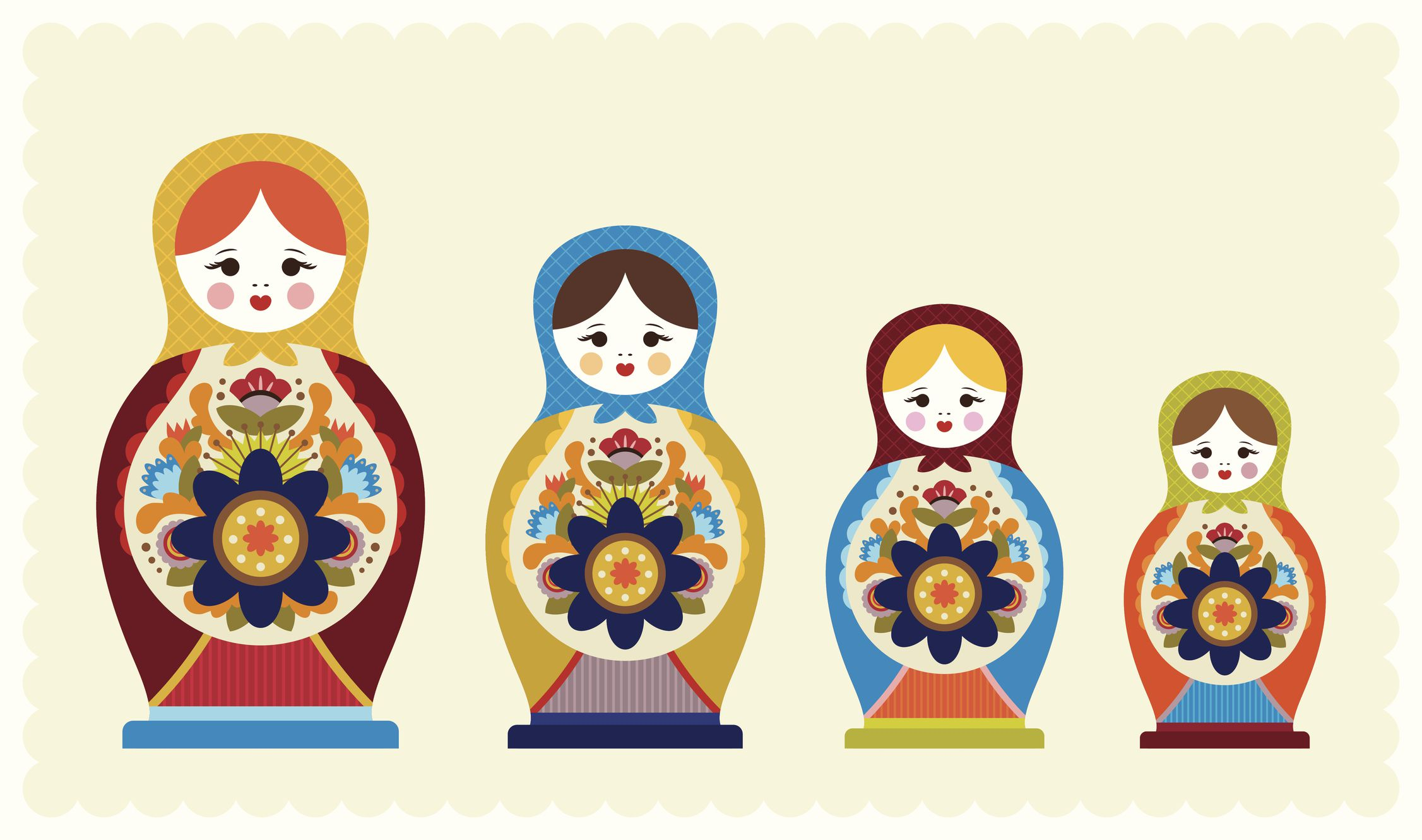 Russian Doll Template To Download And Print