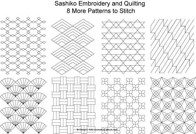 Free Sashiko Embroidery Patterns