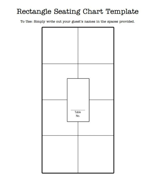 free round table seating chart template
