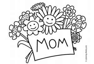 259 Free, Printable Mother's Day Coloring Pages