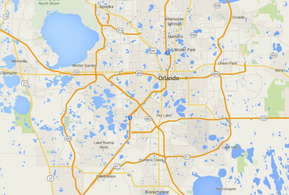 Map Central Florida Area