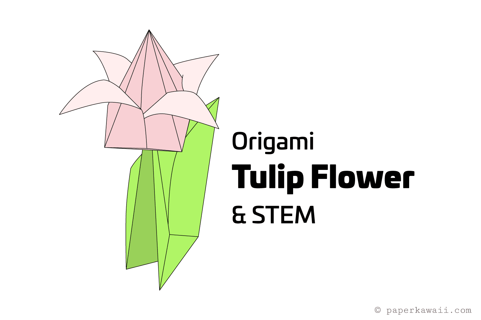 origami flower diagram in english porsche 914 starter wiring how to make an tulip and stem
