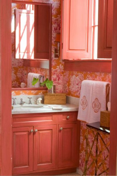 light orange color bathroom 15 Orange Bathroom Ideas
