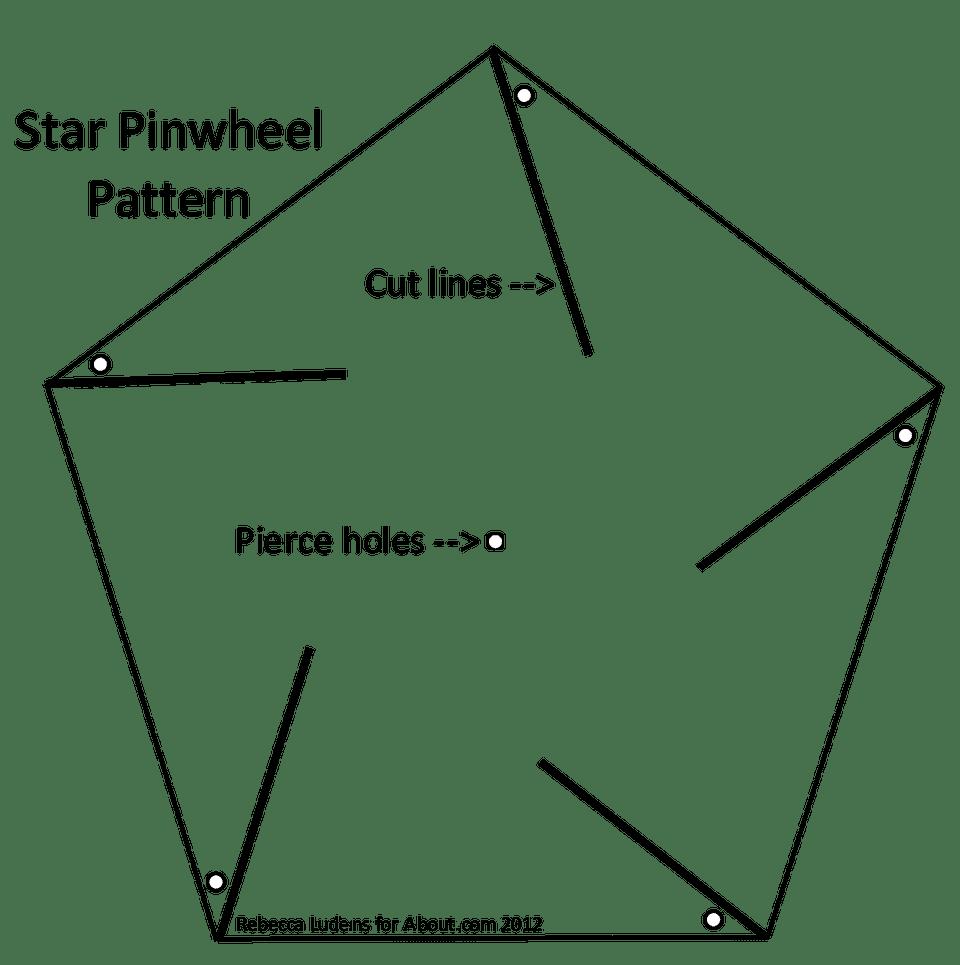 Star Pinwheel for Scrapbooking and Card Making