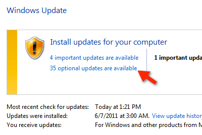 window update