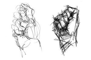 gesture drawing sketching line drawings practice artist gestural hand exercise exercises form draw movement hands quick loose artists gestures object