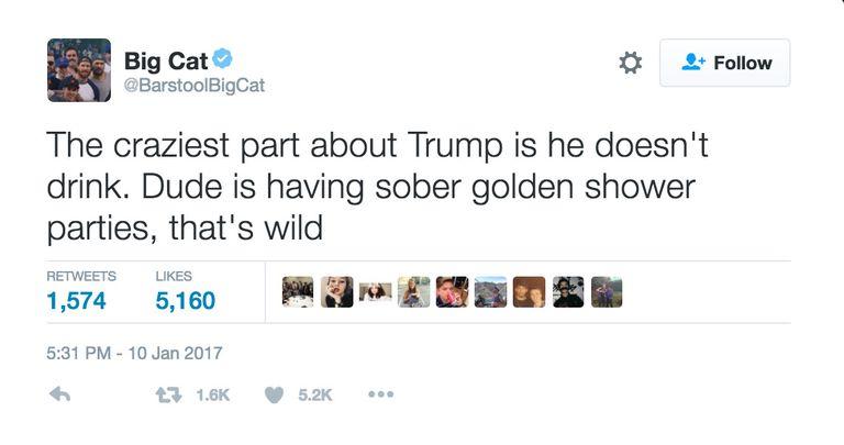 Trumps Golden Showers Funniest Memes