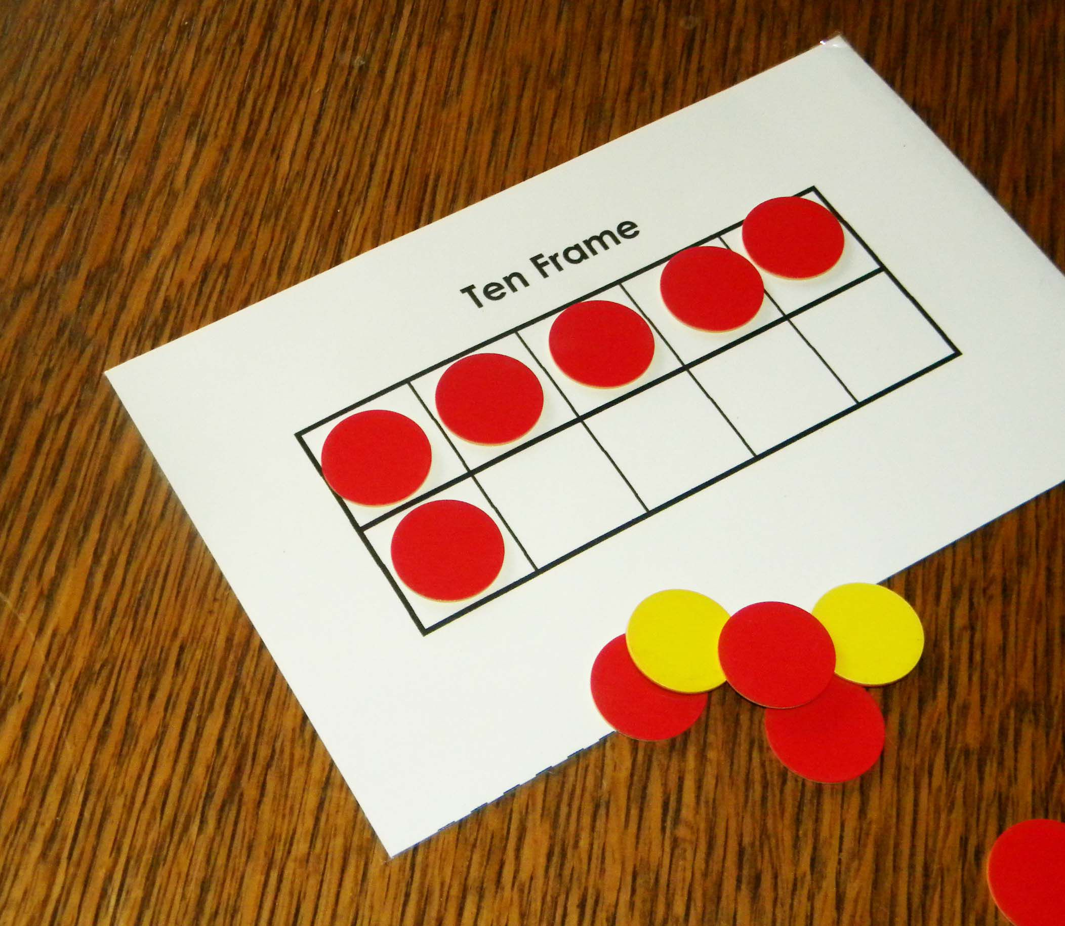 Ten Frames To Teach Number Sense