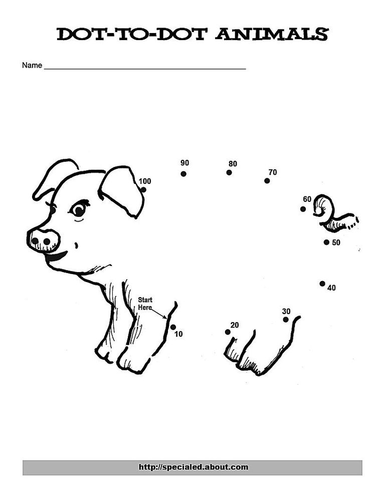 A Calf Dot to Dot for Counting by Ones and Tens