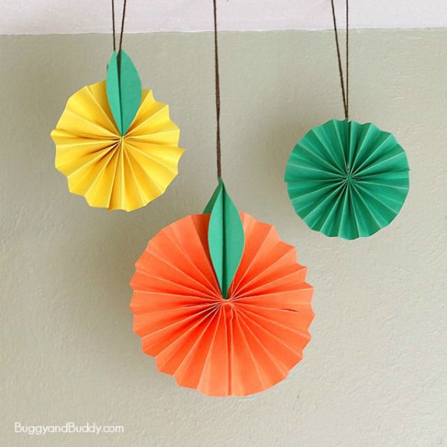 Hanging Citrus Fruit Paper Craft