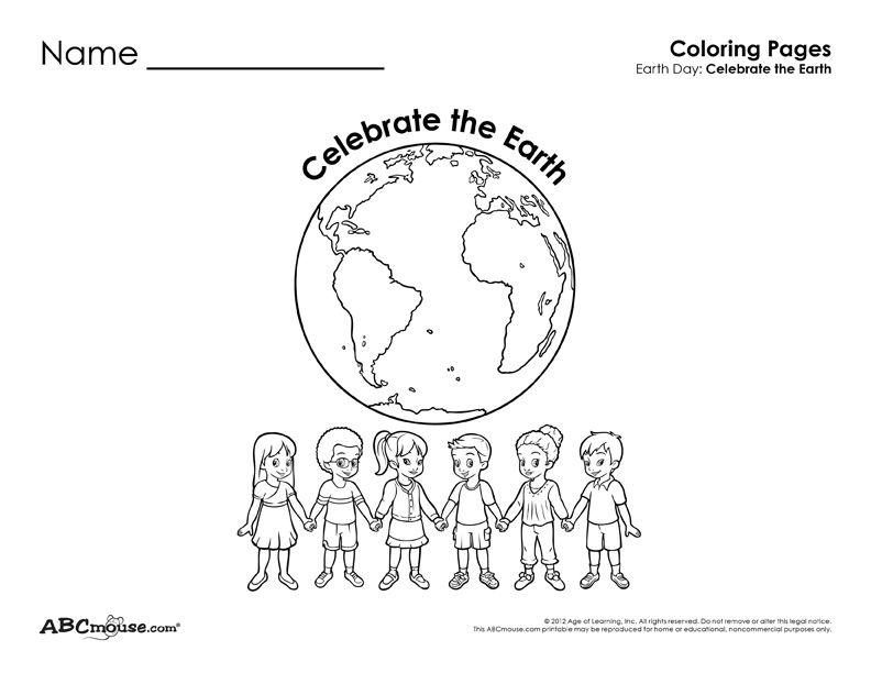 2 Free Earth Day Coloring Pages for Kids