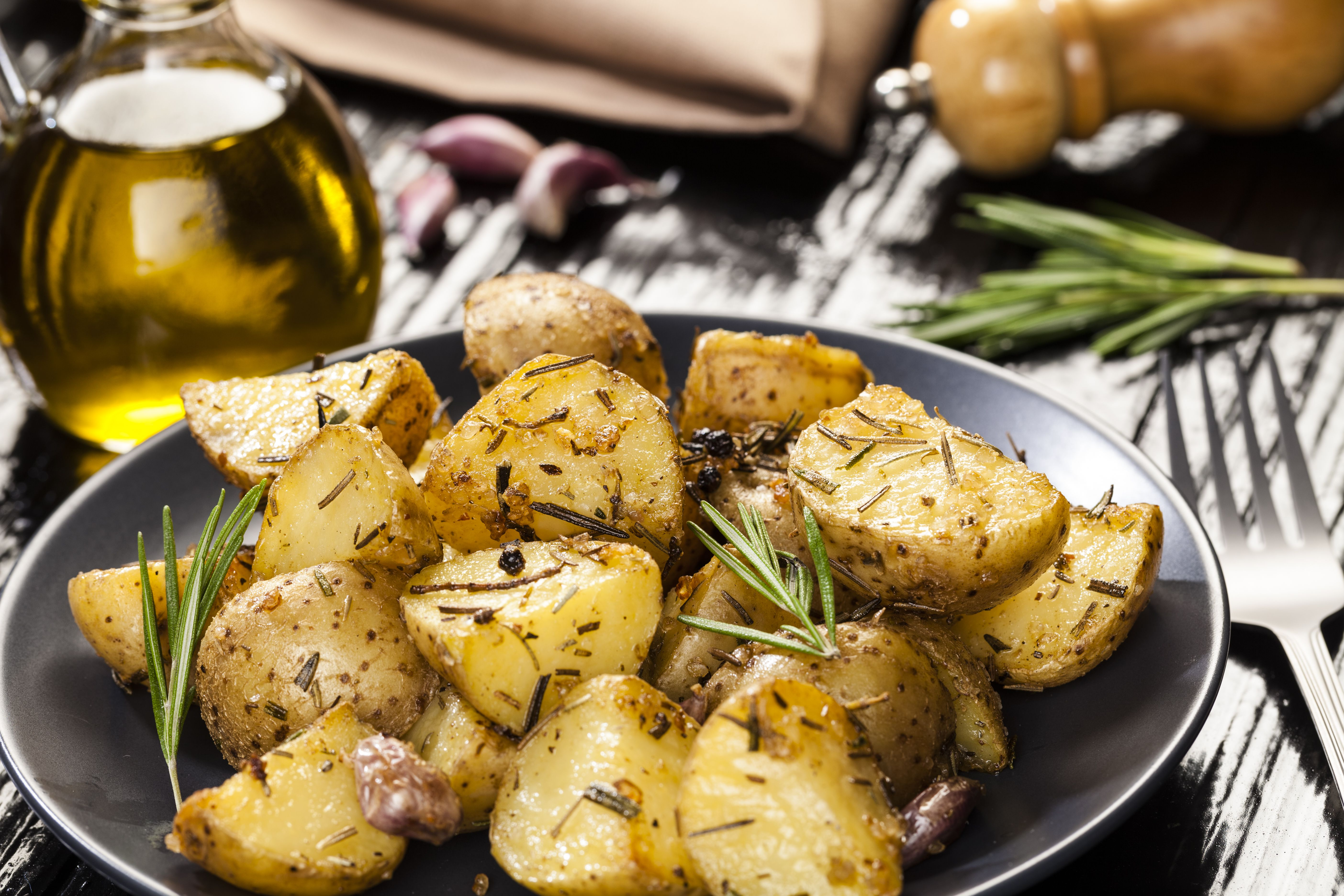 play kitchen dishes digital scales oven roasted rosemary potatoes (vegan, gluten-free recipe)