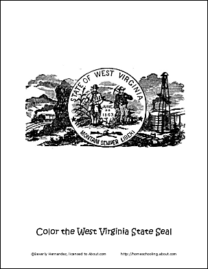 West Virginia Wordsearch, Vocab Worksheet, Crossword