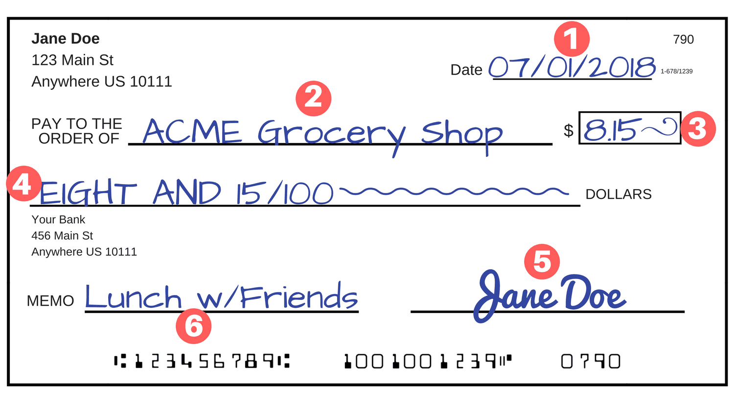 In This Example, You'll Move From The Top Of A Check To The Bottom, Which  Should Help You Avoid Skipping Any Steps.
