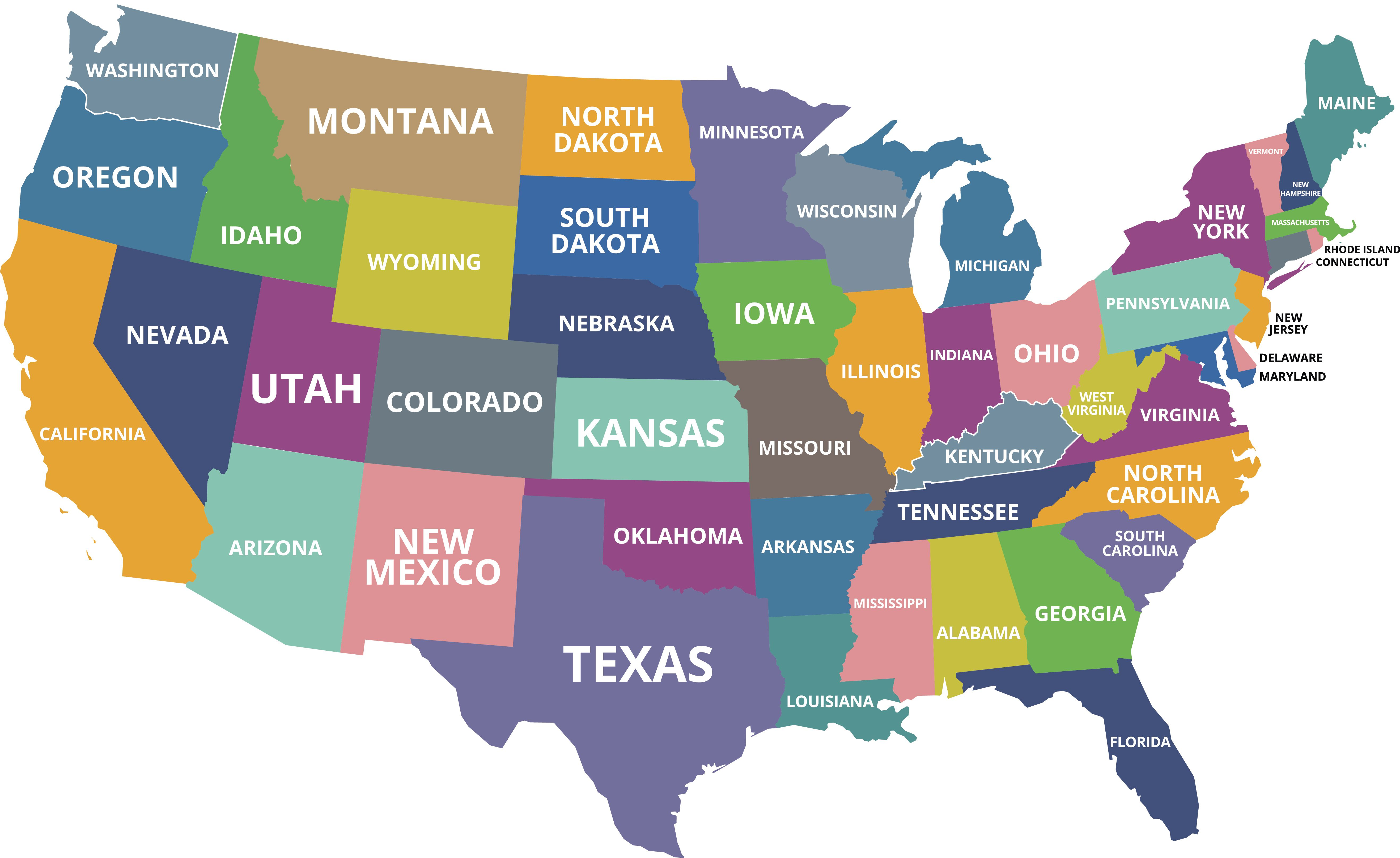 What Are The Smallest States In The U S