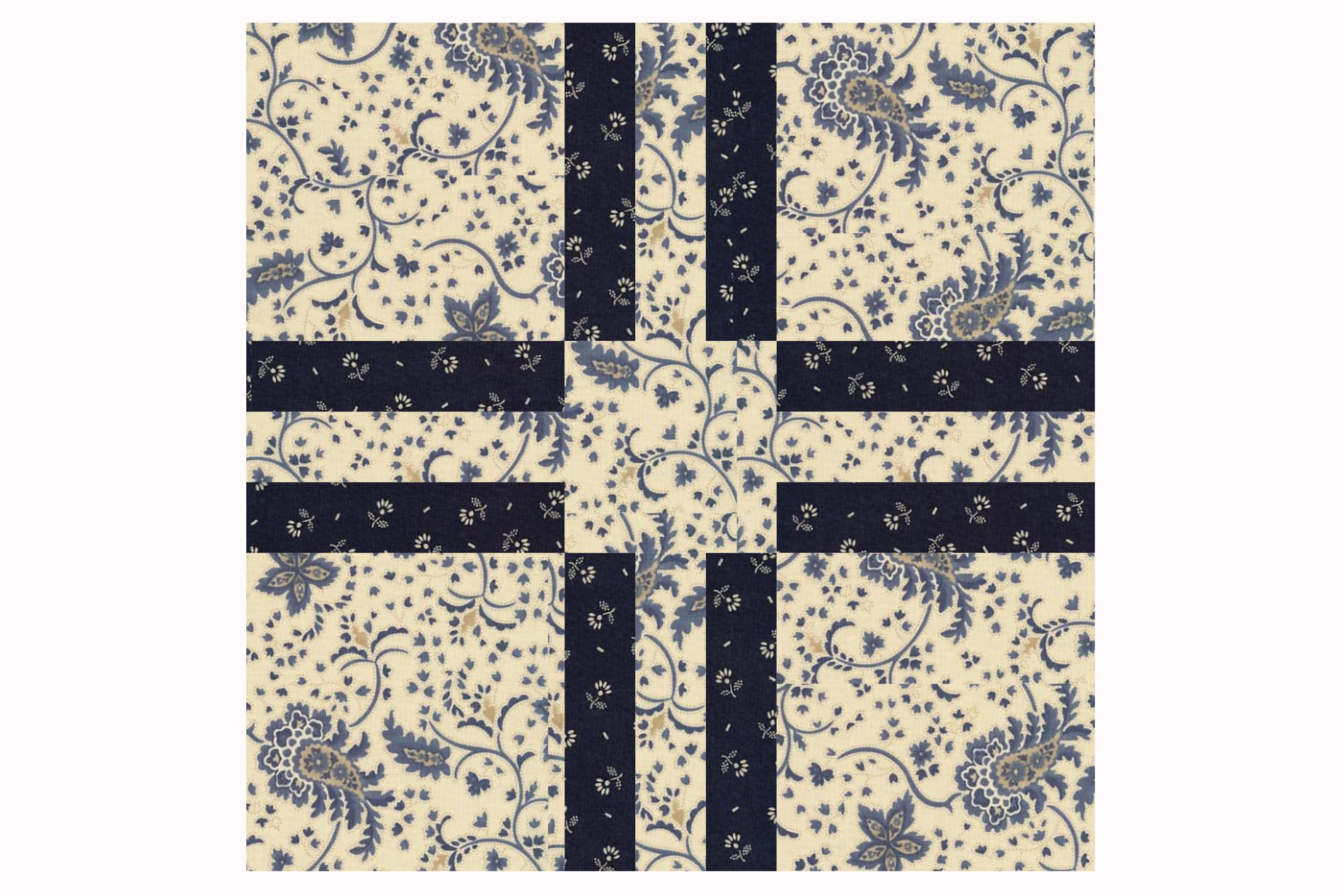 Try Cross Five An Easy Patchwork Quilt Block Pattern