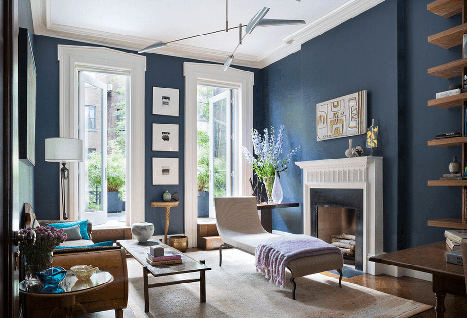 navy blue sofa living rooms room colours with grey walls ideas