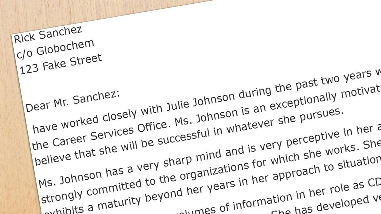 Recommendation Letter Sample For A Business School Student