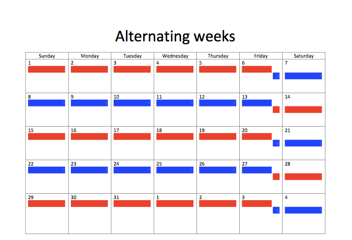 Sample Joint Custody Schedules