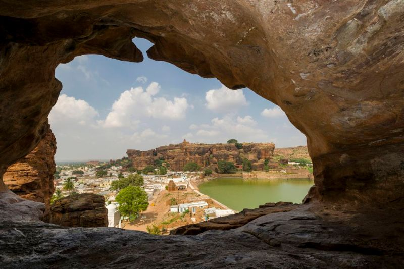 View from Badami Caves