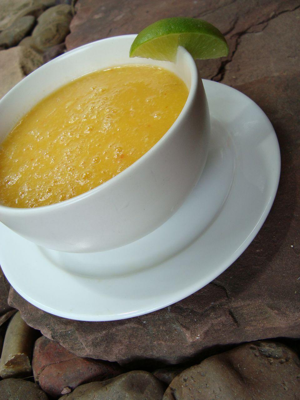 Spicy Mango Ginger Soup Recipe Raw Vegan Glutenfree