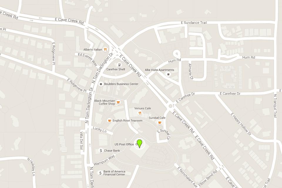 Carefree Arizona Map with Directions, Address