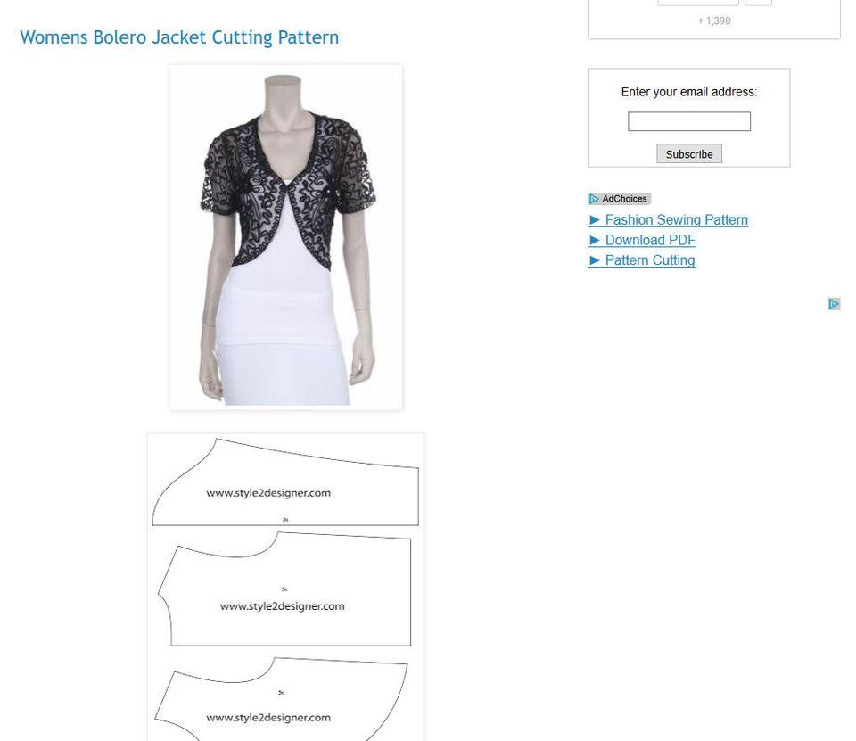 Free Shrug, Bolero and Short Women's Jacket Sewing Patterns