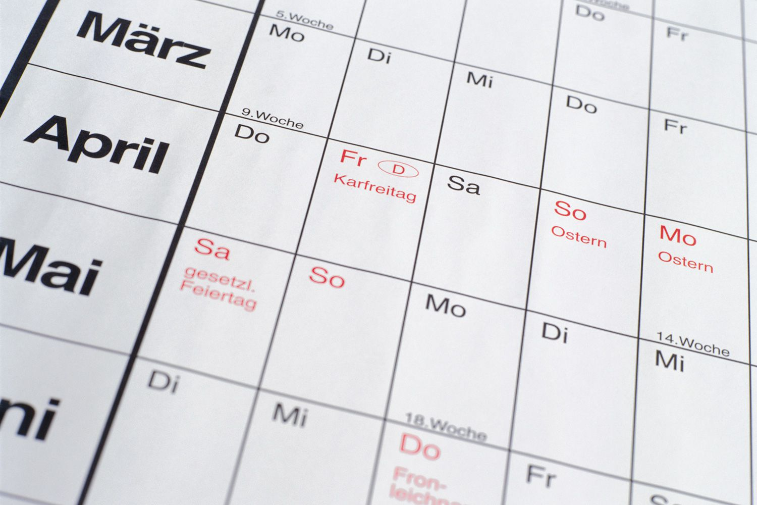 Learn The Months Dates Seasons And Days In German