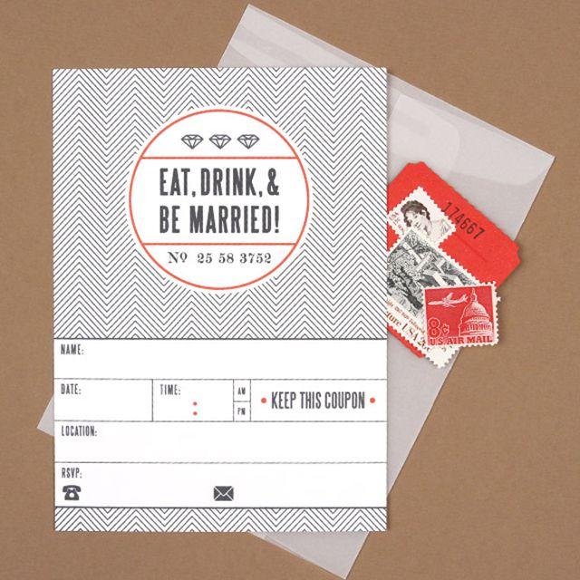 Ticket Printable Wedding Invitation