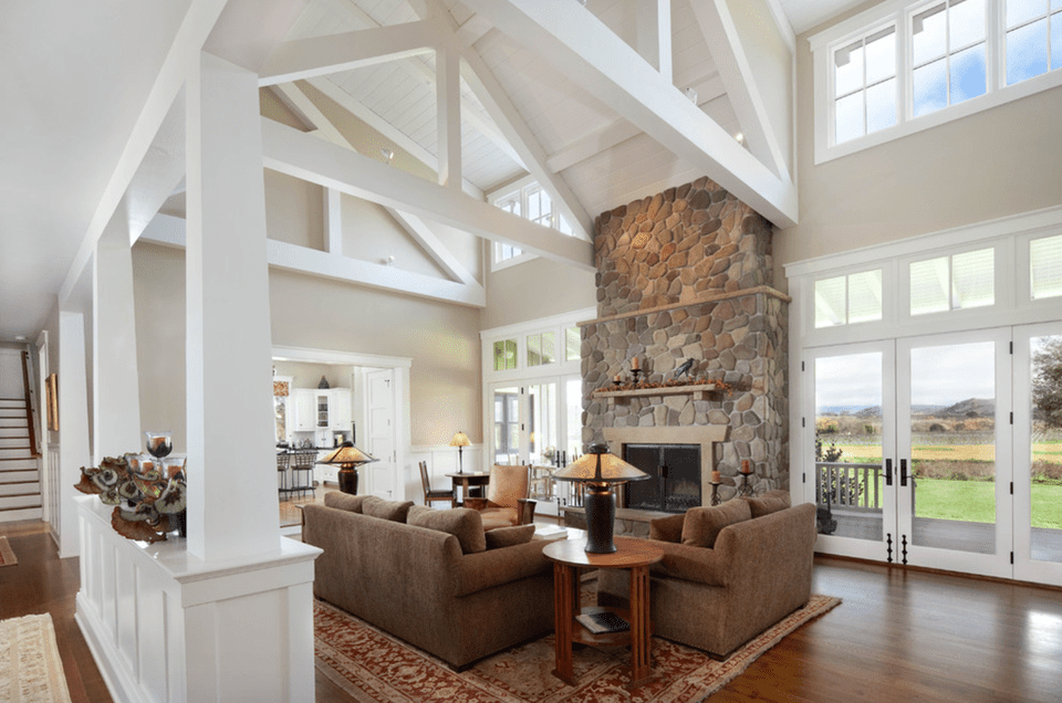 20+ Farmhouse Style Living Rooms