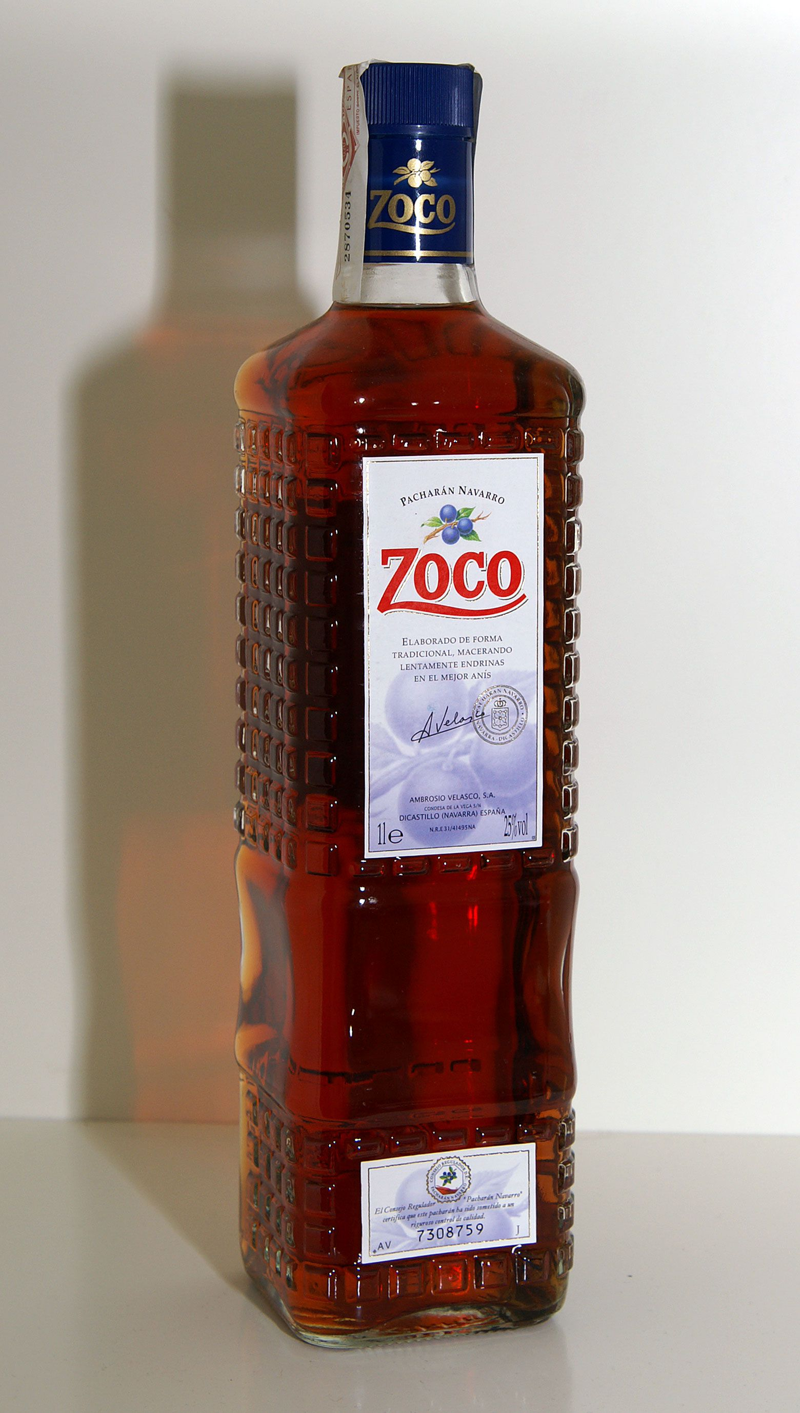 Pacharan Liqueur from Navarra Spain