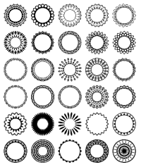 Free Circular Border Shapes for Photoshop and Elements