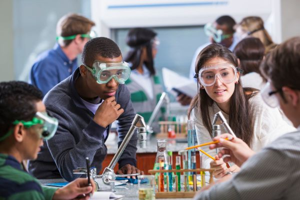 High School Chemistry Science Classroom
