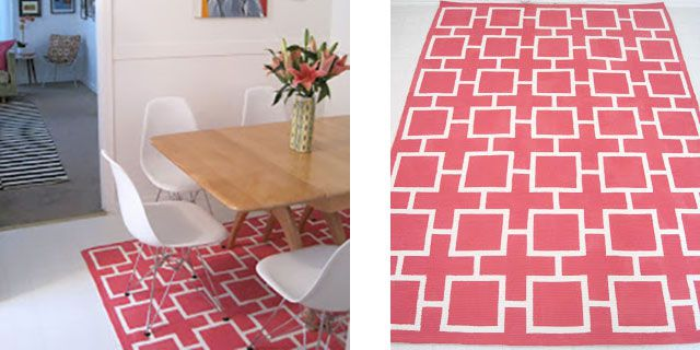 Geometric Painted Rug
