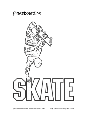 Skateboarding Printabales