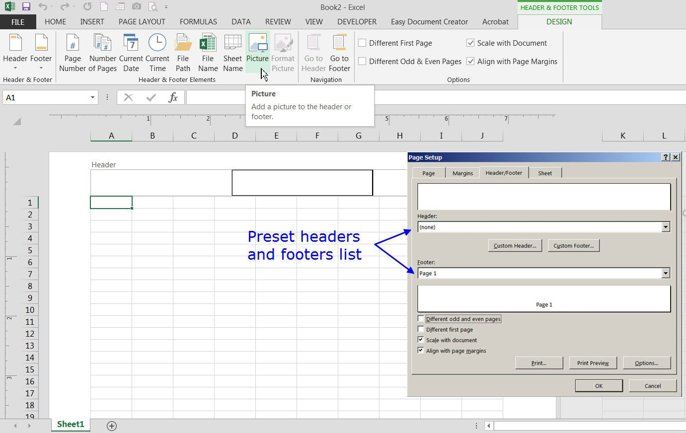 Add Headers And Footers To Excel Worksheets
