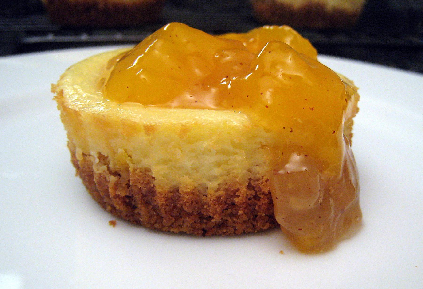 Mini Peach Cheesecakes Recipe
