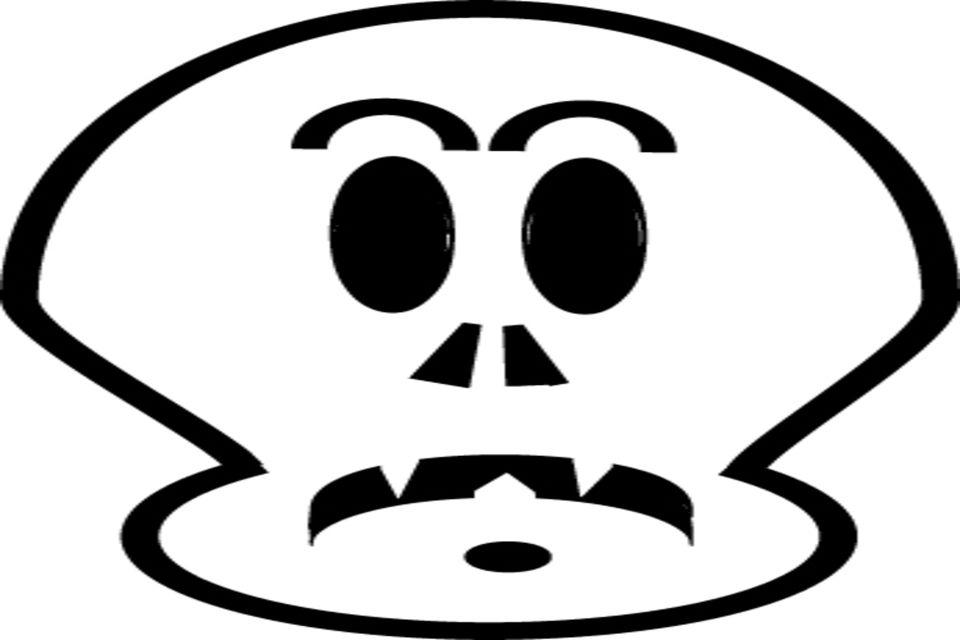 Free Scary Pumpkin Stencils: Printable Templates