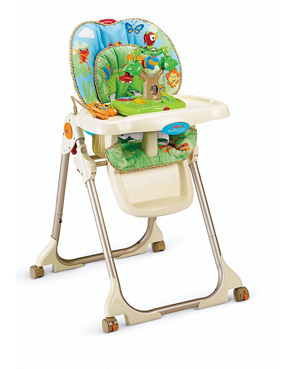 fisher price rainforest healthy care high chair 2 plastic student chairs 8 best for baby